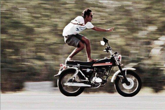 infradito in moto