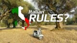 vespa in campagna e italian motorcycle rules